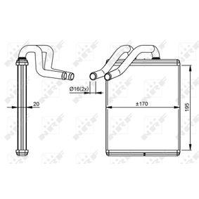 KIA SORENTO I (JC) NRF Wärmetauscher 54301 bestellen