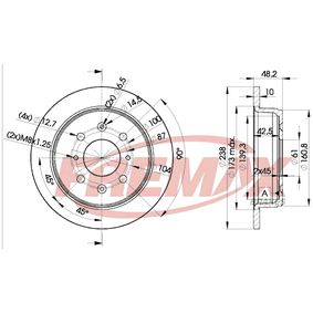 Спирачен диск FREMAX Art.No - BD-0817 OEM: GBD90817 за HONDA, SKODA, LAND ROVER, ROVER, MG купете