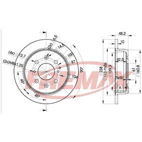 FREMAX Спирачен диск GBD90817 за HONDA, SKODA, LAND ROVER, ROVER, MG купете