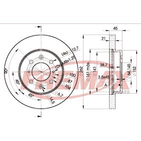 Спирачен диск FREMAX Art.No - BD-1700 OEM: SDB000990 за HONDA, SKODA, LAND ROVER, ROVER, MG купете