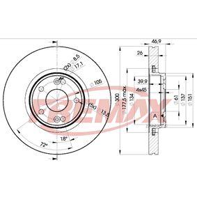Bremsscheibe FREMAX Art.No - BD-2235 OEM: 8671016878 für RENAULT kaufen