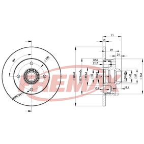 Bremsscheibe FREMAX Art.No - BD-3393 OEM: 191615601B für VW, AUDI, FIAT, SKODA, SEAT kaufen