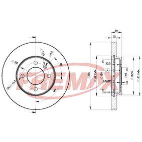 Bremsscheibe FREMAX Art.No - BD-3790 OEM: 357615301D für VW, AUDI, SKODA, SEAT kaufen