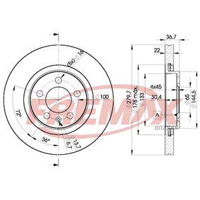 Bremsscheibe FREMAX Art.No - BD-5603 OEM: JZW615301 für VW, AUDI, SKODA, SEAT kaufen