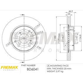 Bremsscheibe FREMAX Art.No - BD-6041 OEM: 5531161M00 für SUZUKI, SUBARU, BEDFORD kaufen
