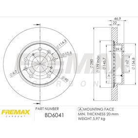 FREMAX Bremsscheibe 5531161M00 für SUZUKI, SUBARU, BEDFORD bestellen