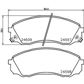 Bremsbelagsatz, Scheibenbremse HELLA Art.No - 8DB 355 013-541 OEM: 581014DA00 für HYUNDAI, KIA kaufen