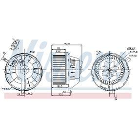 NISSENS SKODA OCTAVIA Motor vetraku (87144)