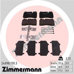 ZIMMERMANN Zestaw klocków hamulcowych, hamulce tarczowe (24098.170.3) w niskiej cenie