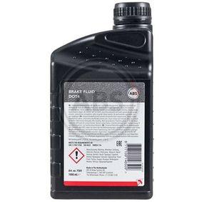 Bremsflüssigkeit (7501) hertseller A.B.S. für RENAULT CLIO II (BB0/1/2_, CB0/1/2_) ab Baujahr 06.2001, 65 PS Online-Shop