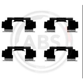 25 Хечбек (RF) A.B.S. Комплект принадлежности, дискови накладки 1276Q