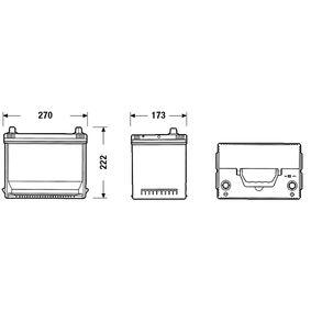 1060816 für FORD, Starterbatterie CENTRA (CA754) Online-Shop