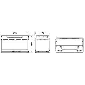 93197903 für OPEL, CHEVROLET, VAUXHALL, Starterbatterie CENTRA (CA900) Online-Shop