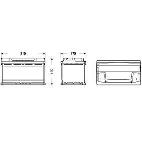 5GM915105H für VW, AUDI, SKODA, SEAT, Starterbatterie CENTRA (CB800) Online-Shop