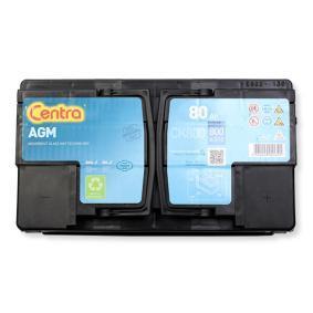 Starterbatterie CENTRA Art.No - CK800 OEM: 244100001R für VW, MERCEDES-BENZ, OPEL, BMW, AUDI kaufen