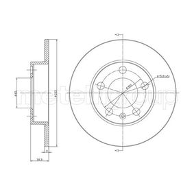 Bremsscheibe CIFAM Art.No - 800-366C OEM: 1J0615601C für VW, AUDI, SKODA, SEAT, SMART kaufen