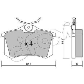 Pastillas de freno CIFAM (822-100-1) para SEAT IBIZA precios