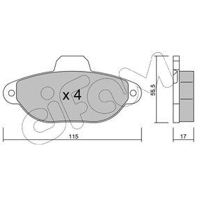 CIFAM Brake pad set (822-159-1)