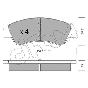 CIFAM Brake Pad Set, disc brake (822-327-0) at low price