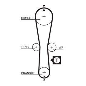 Zahnriemensatz K015454XS GATES