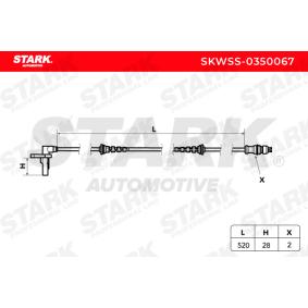 ABS Sensor (SKWSS-0350067) hertseller STARK für RENAULT TWINGO II (CN0_) ab Baujahr 03.2007, 58 PS Online-Shop