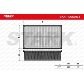 Luftfilter STARK Art.No - SKAF-0060163 OEM: 5Q0129620D für VW, AUDI, SKODA, SEAT, PORSCHE kaufen
