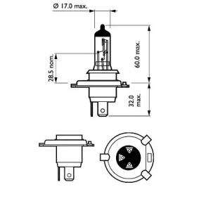 71741900 für FIAT, Glühlampe, Fernscheinwerfer PHILIPS (12342LLECOS2) Online-Shop