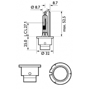 85126SYC1 Glühlampe, Fernscheinwerfer von PHILIPS Qualitäts Ersatzteile