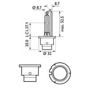 85122SYC1 Glühlampe, Fernscheinwerfer von PHILIPS Qualitäts Ersatzteile