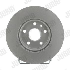 Bremsscheibe JURID Art.No - 562642JC OEM: 569073 für OPEL, CHEVROLET, BUICK, VAUXHALL, PLYMOUTH kaufen