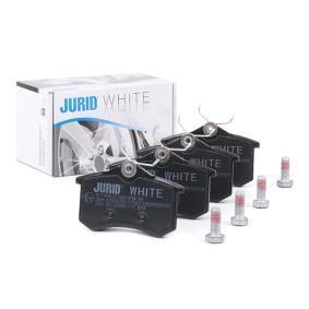 Jogo de pastilhas para travão de disco JURID Art.No - 571906JC OEM: JZW698451C para VW, AUDI, SEAT, SKODA ordem