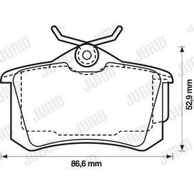 JURID Bromsbeläggssats, skivbroms 8671016582 för RENAULT, RENAULT TRUCKS köp