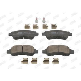 JURID Brake Pad Set, disc brake E172124 for PEUGEOT, CITROЁN, DS, PIAGGIO, TVR acquire