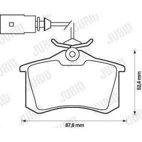 JURID Bremsbelagsatz, Scheibenbremse 1343513 für VW, FORD, SEAT, RENAULT TRUCKS, SATURN bestellen