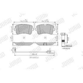 Kit de plaquettes de frein, frein à disque JURID Art.No - 573428J OEM: 4G0698451A pour VOLKSWAGEN, AUDI, SEAT, SKODA, PORSCHE récuperer