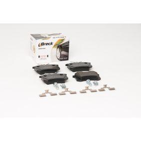 BRECK Bremsbelagsatz, Scheibenbremse 1J0698451K für VW, AUDI, FORD, RENAULT, PEUGEOT bestellen