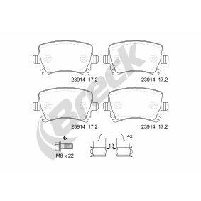 Bremsbelagsatz, Scheibenbremse BRECK Art.No - 23914 00 704 00 OEM: 3C0698451A für VW, AUDI, SKODA, SEAT kaufen