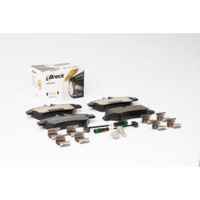 BRECK Bremsbelagsatz, Scheibenbremse 2E0698451 für VW, MERCEDES-BENZ, AUDI, SKODA, SEAT bestellen