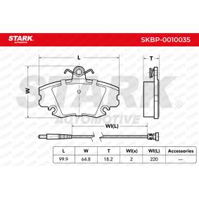 TWINGO II (CN0_) STARK Scheibenbremsbeläge SKBP-0010035