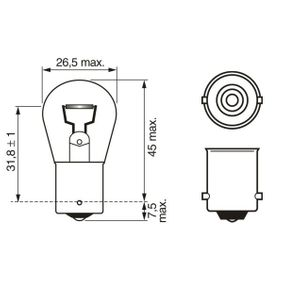 BOSCH FIAT PUNTO Reverse light bulb (1 987 302 811)