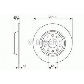 BOSCH Спирачен диск (0 986 479 B93) на ниска цена