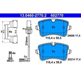 ATE Kit de plaquettes de frein, frein à disque (13.0460-2770.2) à bas prix