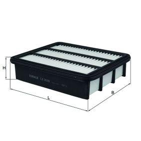 Filtro de aire MAHLE ORIGINAL (LX 3539) para MAZDA CX-5 precios