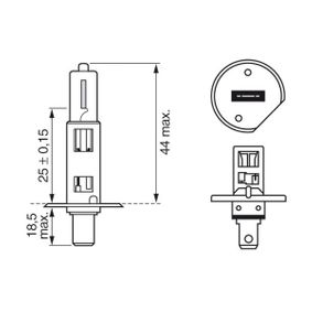 Hauptscheinwerfer Glühlampe BOSCH (1 987 302 801) für RENAULT CLIO Preise