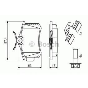 BOSCH VW GOLF Тръбопровод високо налягане, климатизация (0 986 494 596)