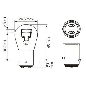 BOSCH Bulb, brake / tail light (1 987 302 814) at low price