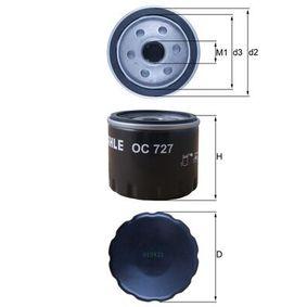 Ölfilter MAHLE ORIGINAL (OC 727) für RENAULT TWINGO Preise