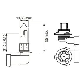 1 987 302 808 Bulb, spotlight from BOSCH quality parts