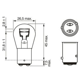 BOSCH Bulb, brake / tail light (1 987 302 813) at low price