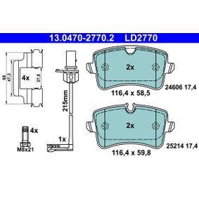 ATE Kit de plaquettes de frein, frein à disque 13.0470-2770.2
